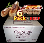 BEEF 6 Packs - Paddy's Farmers Choice Sausages