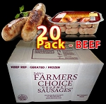 BEEF 20 Packs - Paddy's Farmers Choice Sausages