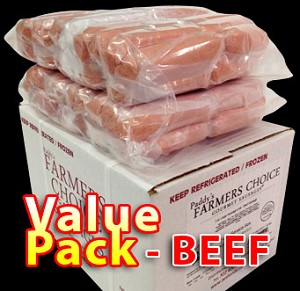 BEEF Value Pack - Paddy's Farmers Choice Sausages
