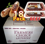 BEEF 18 Packs - Paddy's Farmers Choice Sausages