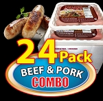 COMBO BEEF & PORK 24 Packs - Paddy's Farmers Choice Sausages