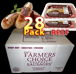 BEEF 28 Packs - Paddy's Farmers Choice Sausages
