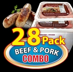 COMBO BEEF & PORK 28 Packs - Paddy's Farmers Choice Sausages