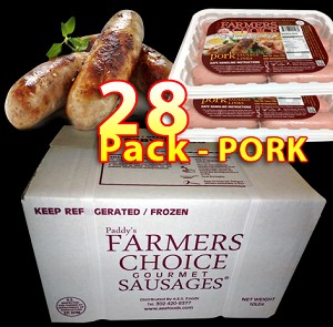 PORK 28 Packs - Paddy's Farmers Choice Sausages